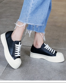 Thick crust frenum platform shoes fat Casual shoes for women
