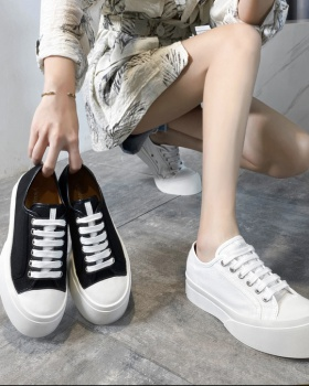 Spring thick crust shoes trifle canvas shoes