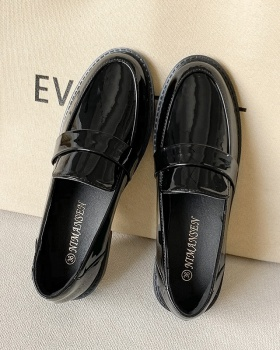 All-match thick low British style leather shoes