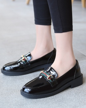 British style leather shoes glossy scarves for women