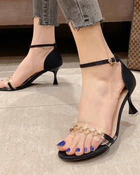 Fine-root summer high-heeled shoes open toe sandals for women