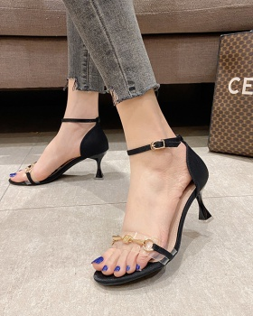Middle-heel summer high-heeled shoes fashion sandals