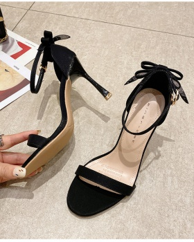 Fine-root cingulate high-heeled shoes lady summer sandals