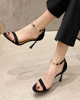France style sandals summer high-heeled shoes for women