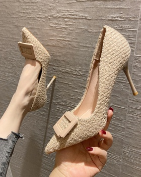 All-match refreshing high-heeled shoes low pointed shoes