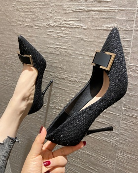 All-match maiden shoes low high-heeled shoes for women