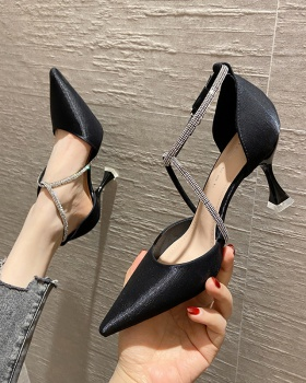 Pointed shoes all-match high-heeled shoes for women