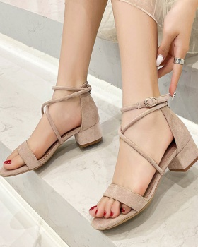 Lady summer France style skirt fashion flat sandals
