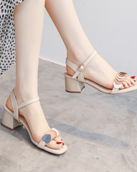 Middle-heel sandals lady high-heeled shoes for women