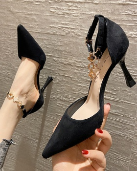 France style maiden high-heeled shoes fine-root shoes