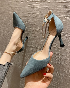 France style pointed high-heeled shoes all-match shoes