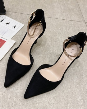 Low fine-root high-heeled shoes black shoes for women