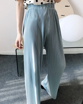 Mopping loose pants straight summer wide leg pants for women