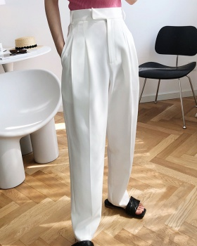 Mopping white pants drape spring suit pants for women
