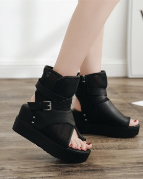 Mesh summer boots spring and summer sandals for women