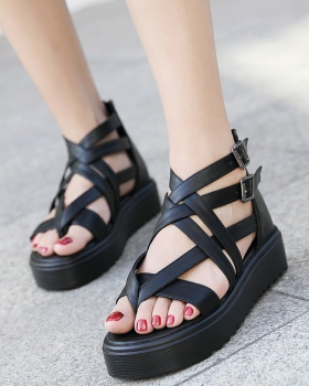 Korean style platform thick crust sandals for women