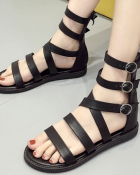 High-heeled rome sandals belt buckle shoes for women