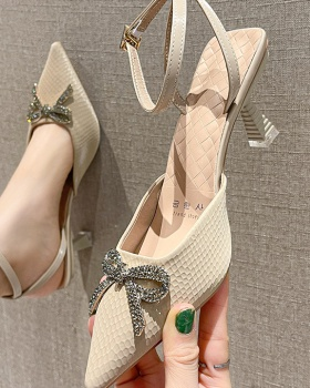 Summer sandals middle-heel high-heeled shoes