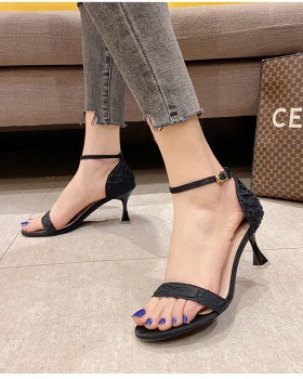 Fine-root high-heeled shoes lady sandals for women