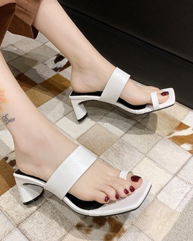 Fashion  middle-heel high-heeled shoes for women
