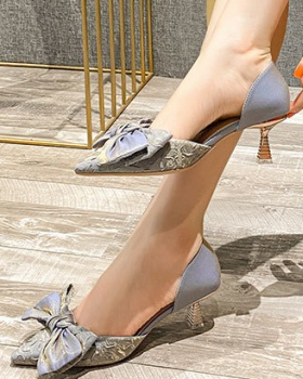 Korean style pointed high-heeled shoes maiden shoes for women