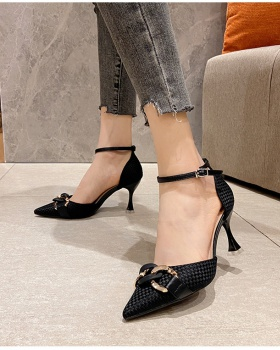 Fine-root cingulate high-heeled shoes small shoes for women
