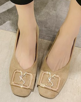Spring square head peas shoes Korean style flattie for women