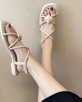 Korean style shoes fish mouth sandals for women