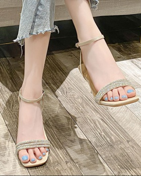 Fine band high-heeled shoes summer sandals for women