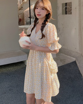 Romantic floral Korean style France style dress for women