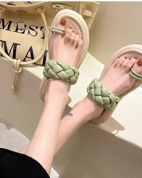 Fashion Korean style  flat summer slippers for women
