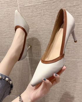 Spring shoes Korean style high-heeled shoes