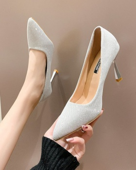 Spring high-heeled shoes Korean style shoes for women