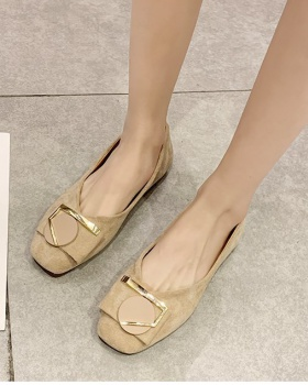 Broadcloth Korean style shoes low summer flattie for women