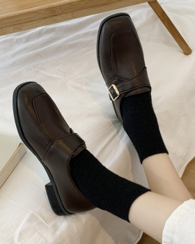 Small college style flattie spring leather shoes