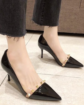 Fine-root shoes Korean style high-heeled shoes for women