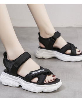 Fish mouth trifle sandals summer thick crust shoes