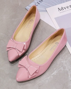 Korean style low flat shoes bow pointed spring peas shoes