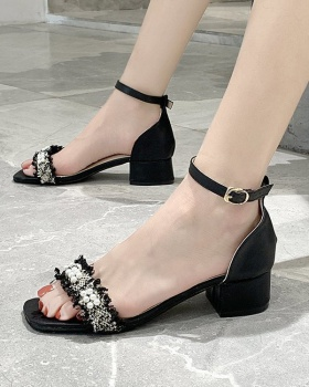 Summer fish mouth Korean style sandals for women