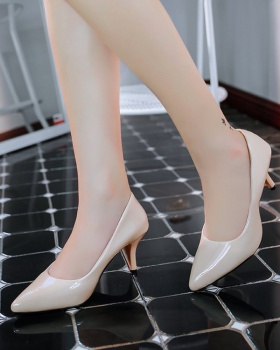 Middle-heel spring footware pointed shoes for women