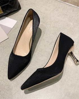 Middle-heel shoes fashion high-heeled shoes for women