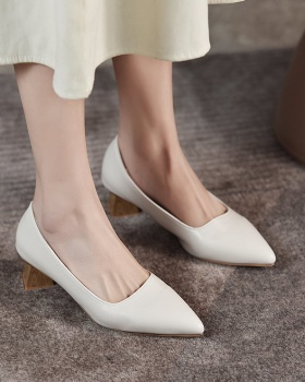 Low fashion shoes pointed high-heeled shoes for women
