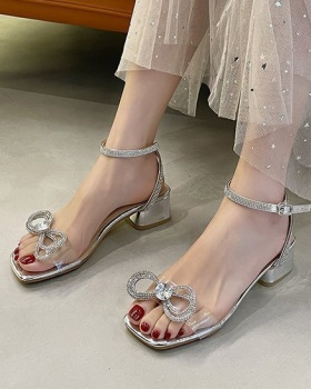 Korean style fish mouth hasp summer fashion sandals