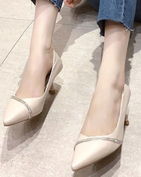 Low fine-root shoes summer high-heeled shoes for women