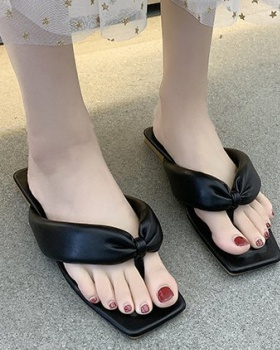 Summer open toe slippers square head  for women