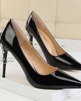 Fashion European style pointed fine-root slim shoes for women
