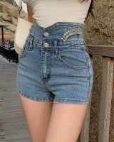 Slim shorts diamond short jeans for women