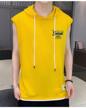 Round neck sleeveless vest summer slim T-shirt for men