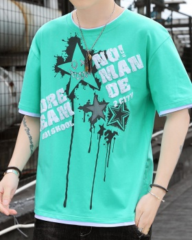 Loose short sleeve summer T-shirt for men