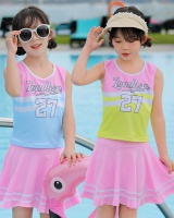 Milk silk girl refreshing high elastic swimwear 2pcs set
